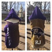Football NFL Baltimore Ravens Hooded Towel Wrap - Personalized