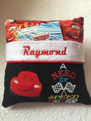 CARS Pocket Pillow Reading Pillow