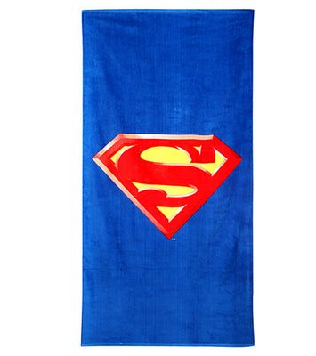 SUPERMAN Logo Beach Towel Personalized