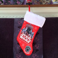 "Star Wars 18"" RED Satin Christmas Stocking Plush Cuff - Personalized T2"