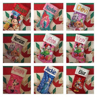 "Disney Princess Ariel Little Mermaid 20"" Satin Christmas Stocking Plush Cuff - Personalized T5"