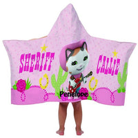 Sheriff Callie Hooded Beach Towel Wrap - Personalized
