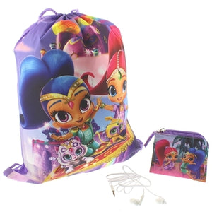Shimmer & Shine Girls Backpack Gift Set