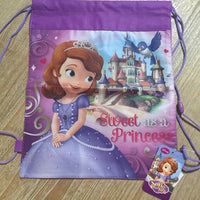 Sofia the 1st Princess Drawstring Backpack Sling Bag – Personalized