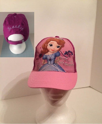 Sofia the 1st Princess Baseball Cap - Girls  Personalized