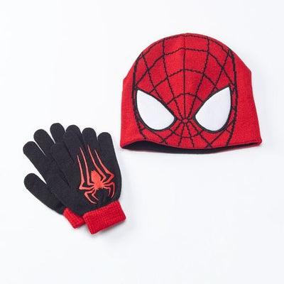 Marvel Spider-Man Boy's 2 Piece Cold Weather Set Reversible Hat & Gloves