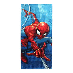 Marvel Spiderman Blue City Beach Towel - Personalized