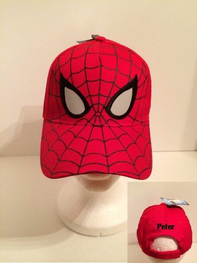 Spider-Man Boys Baseball Cap - RED full face - Personalized