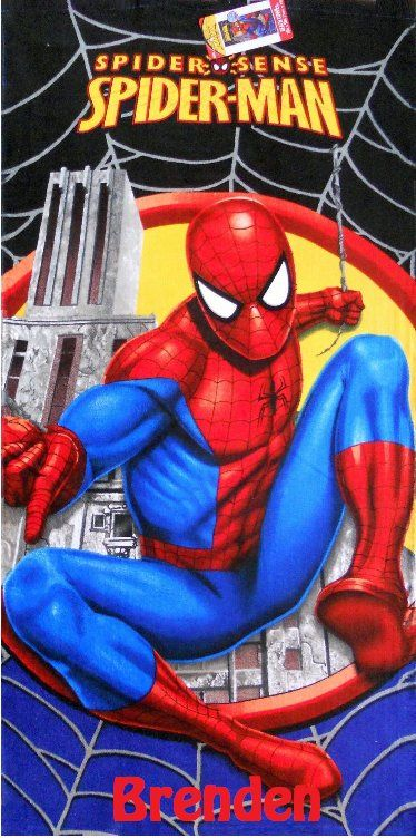 Spider-Man Spiderman Beach Towel Personalized
