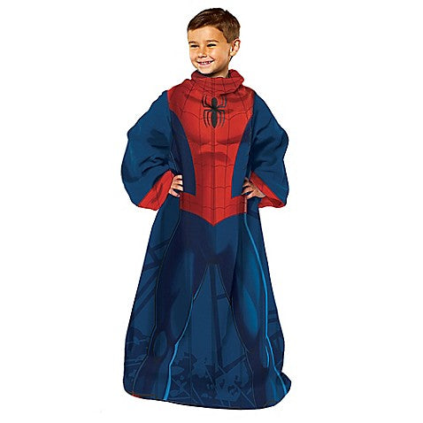 Spider-Man Youth Comfy Blanket Throw with Sleeves - Personalized