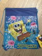 SpongeBob SquarePants Drawstring Backpack Sling Bag – Personalized