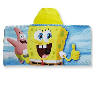 SpongeBob SquarePants Kid's Super Soft Hooded Beach Towel Bath Towel Wrap - Personalized