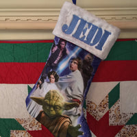 Star Wars 1970 YODA Leia Hans Luke Chewbacca Christmas Stocking - Personalized T2