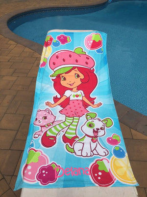 Strawberry Shortcake Beach Towel - Personalized Beach Towel