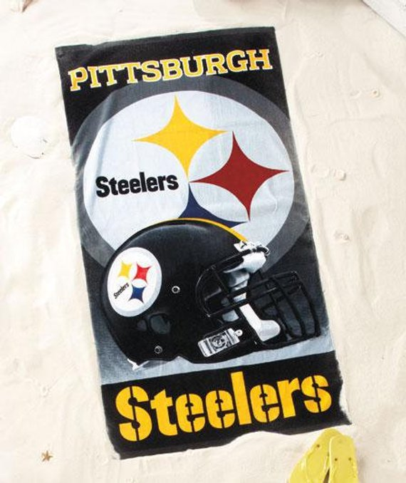 NFL Football Pittsburgh STEELERS Beach Towel Personalized