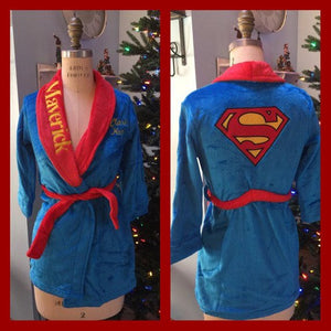 Boys DC Comics Clark Kent Superman Robe - Personalized Size 4/5 LAST ONE