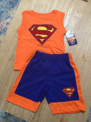 DC Comics Superman Boys' 2-Piece Short Set Outfit