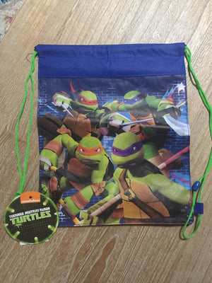 TMNT Teenage Mutant Ninja Turtles Drawstring Backpack Sling Bag – Personalized
