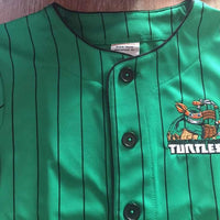 TMNT Ninja Turtle Boy's Baseball Jersey Shirt Top - Personalized