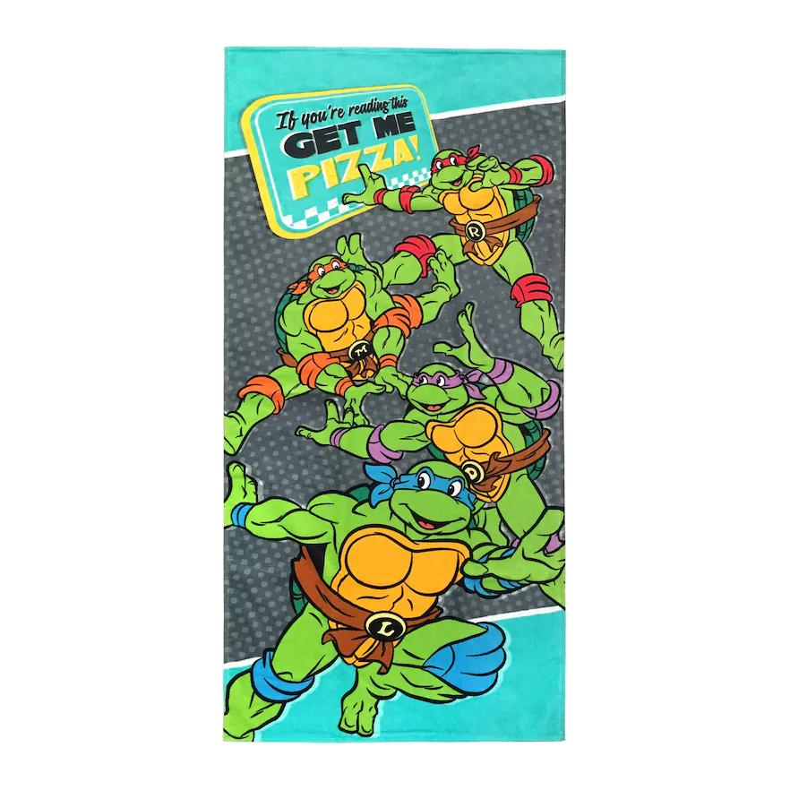 "Teenage Mutant Ninja Turtles ""Get Me Pizza"" Beach Towel - Personalized"