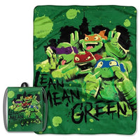 TMNT 'Green & Lean' Drawstring Tote and Throw Set - Monogrammed