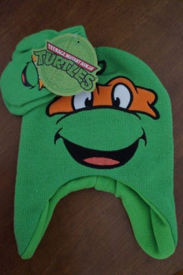 Michelangelo TMNT Teenage Mutant Ninja Turtles Hat & Mittens Set - Personalized