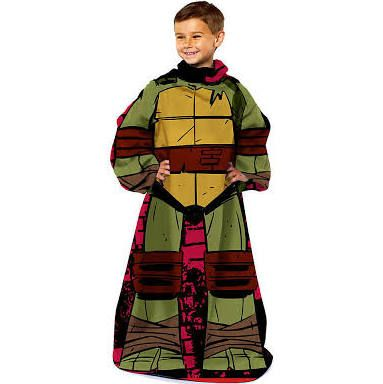 TMNT Teenage Mutant Ninja Turtle Youth Comfy Blanket Throw with Sleeves - Personalized