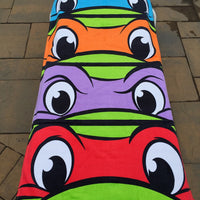 TMNT Turtles Faces EYES Beach Towel - Personalized Beach Towel