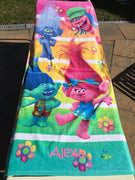 TROLLS Beach Towel - Personalized Beach Towel