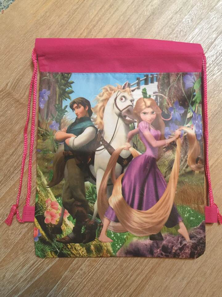Disney's Tangled Rapunzel Drawstring Backpack Sling Bag – Personalized