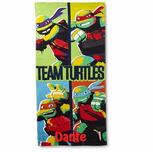 TMNT Teenage Mutant Ninja Turtles TEAM Turtles Beach Towel - Personalized Beach Towel