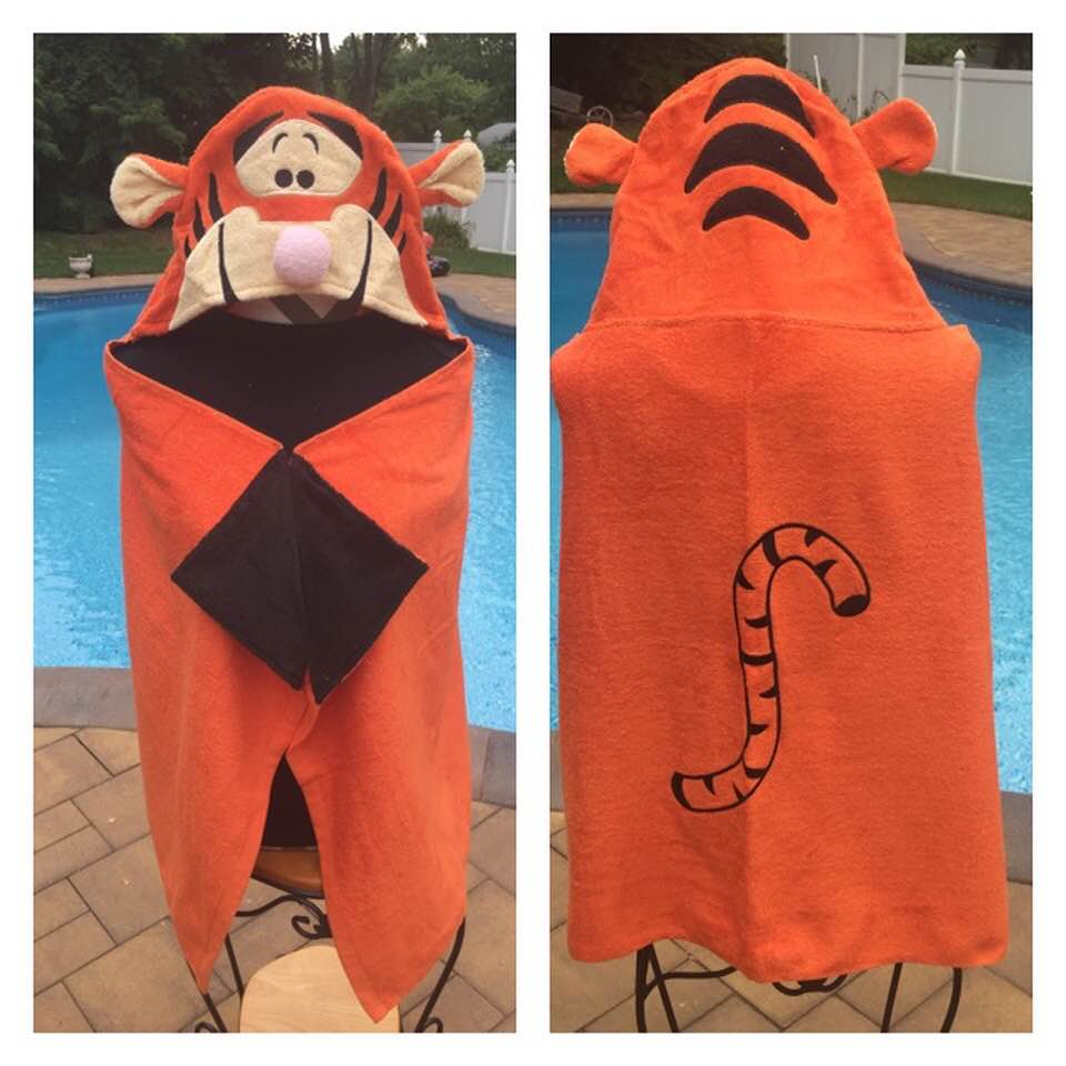 Winnie The Pooh Tigger Bath Towel Wrap – Personalized