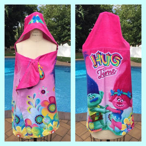 DreamWorks Trolls Poppy Hooded Towel Beach Towel Bath Wrap - Personalized