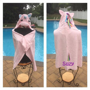 Unicorn Hooded Towel Bath Wrap Toddler beach towel - Personalized