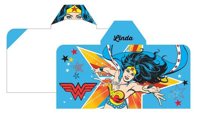 Wonder Woman Bath Pool Beach Hooded Towel wrap - Personalized Beach Towel