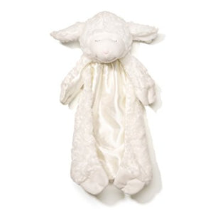 "Baby Gund Winky Huggybuddy White Lamb Blanket - 15"" - Personalized"