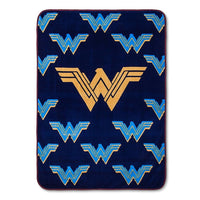 Wonder Woman Plush Blanket Throw - Personalized