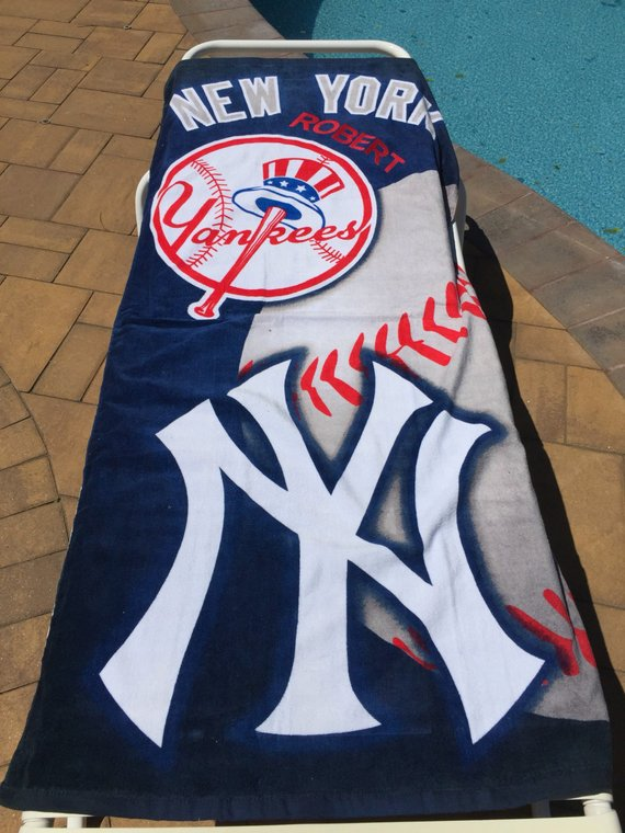 Baseball MLB New York YANKEES Beach Towel BALL Personalized
