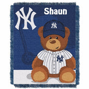MLB New York Yankees Field Baby Bear Tapestry Throw Blanket - Personalized