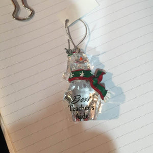 Christmas Ornament GANZ Snowman - Best Teacher's Aide