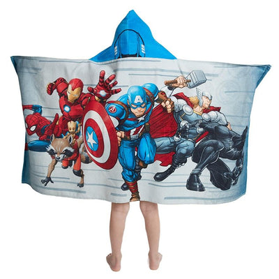 Marvel Avengers Team up Hooded Bath Towel Wrap - Personalized