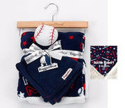 Rugged Bear Sports Blanket with BASEBALL Snuggle Lovey Blanky Crib toy - Personalized