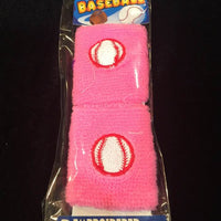 Baseball Softball Terrycloth Wristband Set of 2
