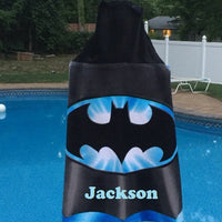 BATMAN BOYS Hooded Towel Wrap – Super Bat Hero Personalized