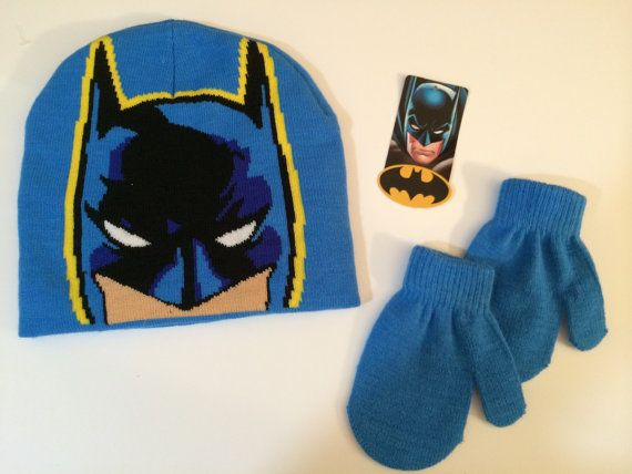 6222f704a0f DC Comics Batman Winter Hat and Mittens Set Toddler Boy 2T-5T - Personalized