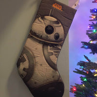 Star War Stromtrooper Christmas Stocking 20 inch Quilted Stocking - Personalized T8