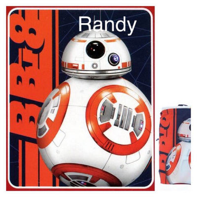 Star Wars BB8 'Fast Droid' Drawstring Tote and Throw Set - Personalized