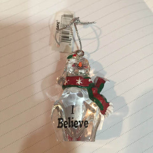 Christmas Ornament GANZ Snowman - I Believe