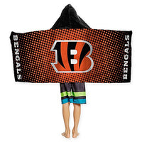 Football NFL Cincinnati Bengals Hooded Towel Wrap - Personalized