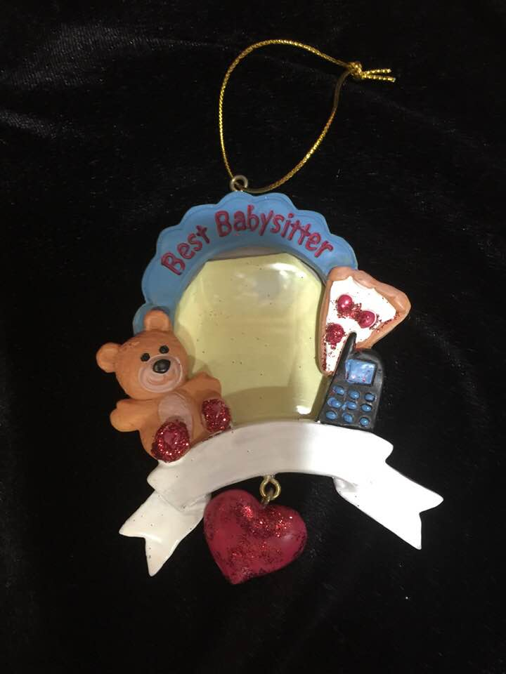 Christmas Ornament -  Best Babysitter Picture Frame Ornament